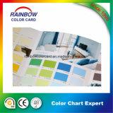 Livre promotionnel de carte de couleur de peinture de mur de matériau de construction pour la publicité