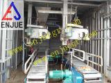 Embaladora transportada en contenedores unidad de pesaje y de empaquetamiento del tipo móvil