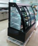 自動車は霜を取り除く前部開始ドア(KT760AF-S2)が付いている商業ケーキのフリーザーのショーケースのキャビネットの