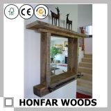 Frame de madeira do espelho do espelho luxuoso europeu do banho do estilo