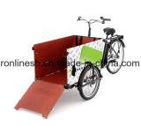 Педаль или 250With500W электрический груз Trike/Bike груза e/велосипед груза колеса груза Tricycle/3 семьи/перевозка Trike/велосипед груза посыльного, цепь 3speed