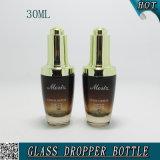 bouteille cosmétique ambre de compte-gouttes de sérum en verre 30ml du gradient 1oz