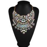 형식 다채로운 가득 차있는 모조 다이아몬드 다이아몬드 수정같은 디자이너 계산서 숨막히게 하는 것 목걸이 보석