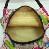 Beau sac à main imperméable à l'eau de toile de mode de sac de déjeuner d'impression