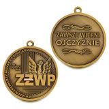 Medaglia d'ottone antica personalizzata di onore di sport dell'università