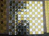 Gold-und Silber-Diamant-Spiegel-Mosaik-Fliese (HD091)