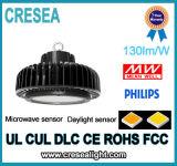 100W 150W 200W LED 산업 창고를 위해 둥근 높은 만 빛 UFO