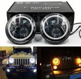 Linterna de 7 pulgadas, linterna redonda de la linterna 50W del LED con el anillo del halo para el Wrangler del jeep