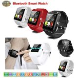 Relógio esperto do relógio de pulso U8 U do relógio de Bluetooth cabido para o preto Android do Ios dos telefones espertos