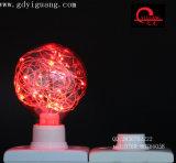 Bulbo colorido especial del material G125 del alambre de cobre de los bulbos de la estrella del RGB LED