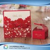 Rectángulo de torta de empaquetado de papel de la cartulina de la Navidad con la ventana (xc-fbk-051)