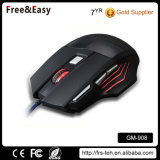 Double clic haute résolution 5500dpi ergonomique Wired PC Gaming Mouse
