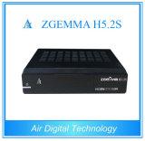 2016 nueva llegada! ! Smart Set Zgemma H5.2s receptor de satélite DVB-S2 Doble Top Box para la televisión