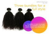 Tessuto crespo dei capelli umani dell'arricciatura di colore nero per le donne di colore