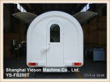 Ys-Fb200t Straßen-NahrungTuk Tuk mobiler Küche-Fahrzeugrotisserie-Huhn-Schlussteil