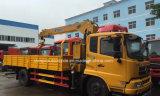 최신 판매 4*2 LHD Rhd는 기중기로 트럭 6 톤 기중기 선적 거치했다
