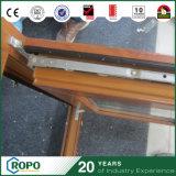 UPVC/PVC het houten Venster van de Schuine stand en van de Draai van de Dubbele Verglazing van de Kleur voor de Bouw