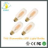 Bombilla de Edison LED del bulbo de T45 8W E27 240V LED