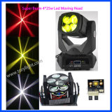 LED de luz de DJ 4PCS * 25W de la viga estupenda luz principal móvil
