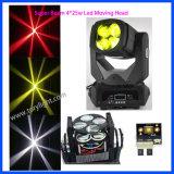LED DJ 가벼운 4PCS*25W 최고 광속 이동하는 맨 위 빛