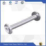 Mangueira trançada flexível 10bar do metal do aço Ss304 inoxidável