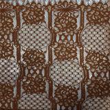 Merletto del cotone del ricamo di Chantilly della fabbrica della Cina