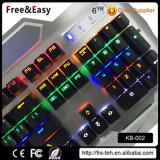 teclado mecánico puesto a contraluz RGB de 2016 104 claves