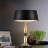 枕元または寝室のためのそうすばらしいデザイン金及び黒い現代読書机表ライトランプ