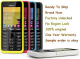 Cinq téléphone cellulaire de Priginal Nokie 301 de couleurs