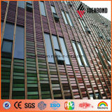 PVDF extérieur enduisant le panneau en aluminium conçu neuf de mur rideau de spectres