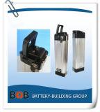 36V 15ah Stijl van de Vissen van het Pak van de Batterij van het Lithium 10s7p de Zilveren