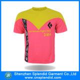 Tshirt curto relativo à promoção da impressão da luva com logotipo feito sob encomenda