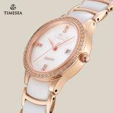 Uhr der Frauen-Quarz-keramische Uhr-Dame-Form mit Japan-Bewegung 71066
