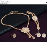 과장된 다이아몬드 4개 피스 고정되는 복장 부속품 형식 신부 황금 보석