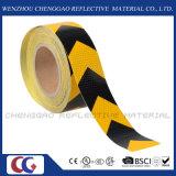 Черный и желтый стикер Rolls PVC отражательный с стрелкой (C3500-AW)