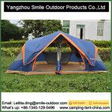 6人の二重層3部屋の自動屋根のキャンプテント