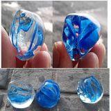 Branello di vetro macchiato blu del mare