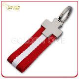 Metal Keychain del regalo de la promoción del superventas con el acollador de nylon
