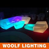 ナイトクラブの家具、LEDのナイトクラブのソファー、カラー変更のイベントのソファー