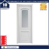Porte faite sur commande en verre de forces de défense principale de matériau de construction de PVC d'intérieur d'approvisionnement de constructeur