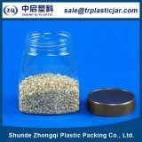 Latas plásticas do alimento do animal de estimação transparente com tampa plástica