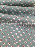 Punto verde 100% de la fresa del popelín del algodón Finished de la tela