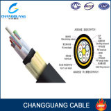 Cavo ottico della fibra ADSS di memoria del filato 96 di singolo modo G652D Du Pont Aramid di ADSS