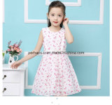 Princesse d'impression de fleur de mode belle Girls Dress avec la ceinture