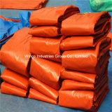 Tissus de bâche en polyéthylène bleu / Tissus en toile PE / Feuille / rouleau PE pour la couverture