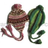 Chapéu/tampão feitos malha do Beanie das crianças do inverno jacquard acrílico morno