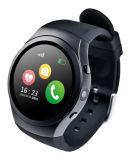 Teléfono elegante del reloj con el monitor del ritmo cardíaco de la localización del GPS