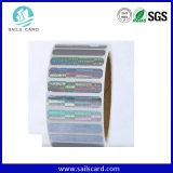 Etiqueta adhesiva del extranjero H3 RFID de la frecuencia ultraelevada de ISO18000-6c