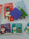 Saisongruß-Papierkarten mit Funkeln-Ende