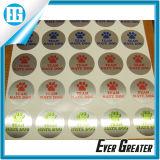 Étiquette adhésive de collant de PVC de cadeau d'étiquette promotionnelle d'impression